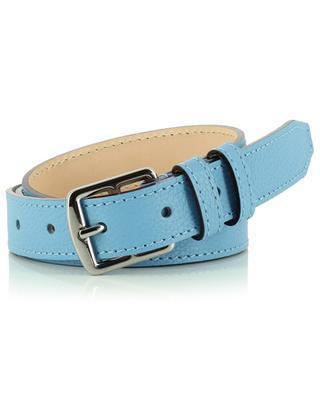 Mini Etrivière thin grained leather belt BERTHILLE MAISON FRANCAISE