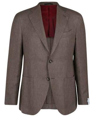 Blazer à boutonnage simple en laine, lin et soie mélangés aida CARUSO