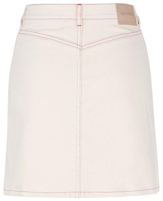 A-line denim miniskirt with red topstitching SEE BY CHLOE