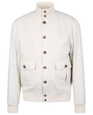 Valstarino linen and cotton utility bomber jacket VALSTAR MILANO 1911