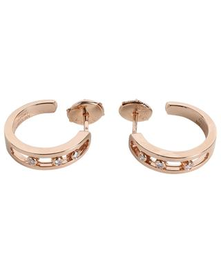 Move pink gold and diamond hoop earrings MESSIKA