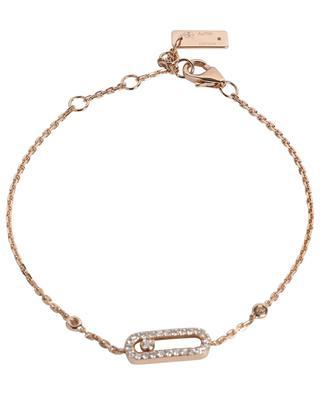 Move Uno Pavé pink gold and diamond bracelet MESSIKA