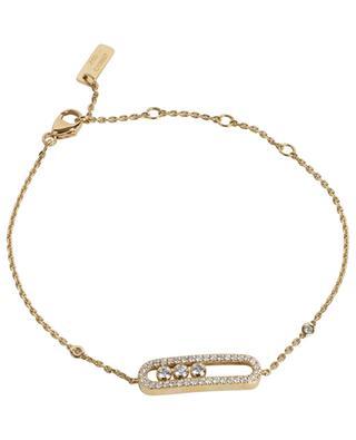 Bracelet en or jaune en diamants Baby Move Pavé MESSIKA