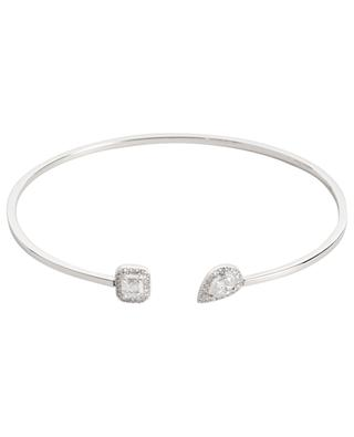 Bracelet jonc en or blanc et diamants Flex My Twin MESSIKA