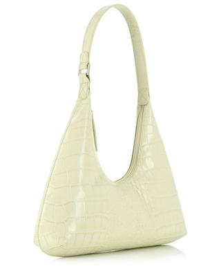 Amber Cream croc embossed leather shoulder bag BY FAR