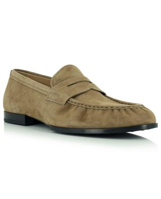 Suede loafers with rubber soles TOD'S