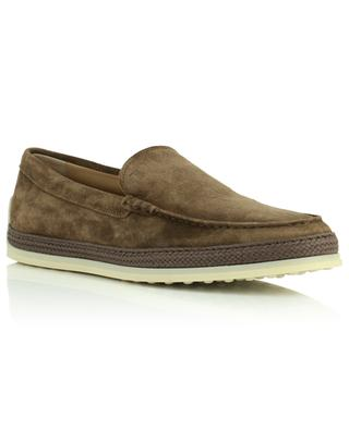 Nuova Pantofola loafers in suede and raffia TOD'S