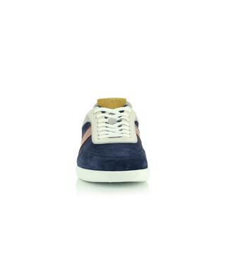Niedrige Sneakers in marineblauem Wildleder und Glattleder T Cassetta Leggera Ira TOD'S