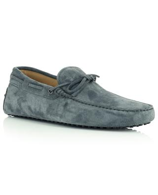 New Gommini grey suede loafers with laces TOD'S