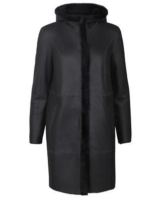 Wendbarer Mantel aus Schafsleder und -pelz mit Kapuze Sama ARMA