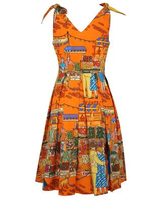 Vegan Love market printed poplin strappy dress ALESSANDRO ENRIQUEZ