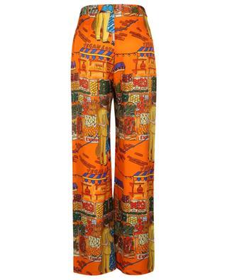 Vegan Love market scene wide-leg trousers ALESSANDRO ENRIQUEZ