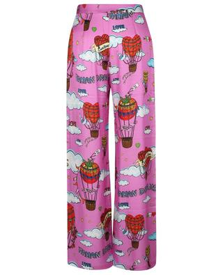 Italian Dream hot air balloon printed wide-leg trousers ALESSANDRO ENRIQUEZ