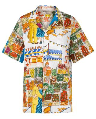 Vegan Love market scenery short-sleeve shirt ALESSANDRO ENRIQUEZ
