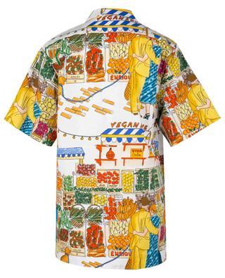 Kurzarm-Hemd mit Marktszene Vegan Love ALESSANDRO ENRIQUEZ