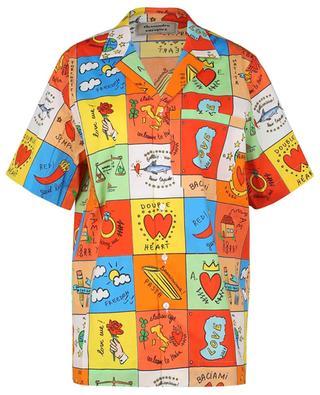 Love multicolour tile print short-sleeve shirt ALESSANDRO ENRIQUEZ