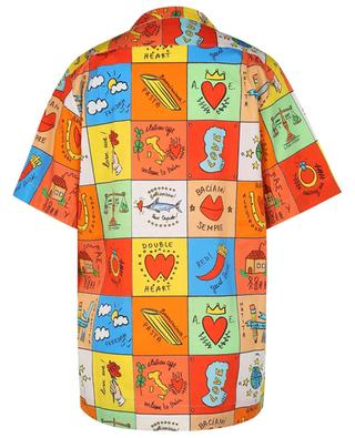 Love multicolour tile print short-sleeve shirt ALESSANDRO ENRIQUEZ
