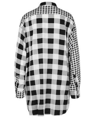 Breezy gingham check oversize shirt ALESSANDRO ENRIQUEZ