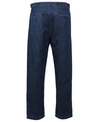 Pantalon droit en chambray effet denim VALENTINO