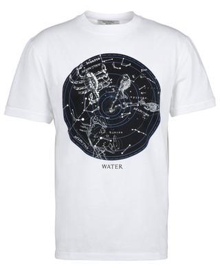 Zodiac Map Water printed cotton T-shirt VALENTINO