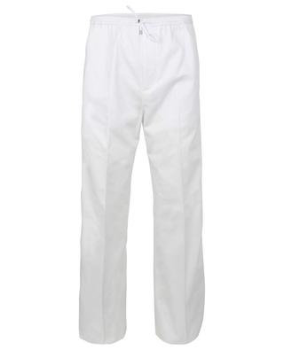 Pantalon droit en gabardine esprit jogging VALENTINO
