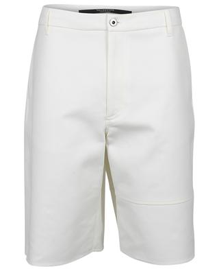White baggy fit gabardine Bermuda shorts VALENTINO