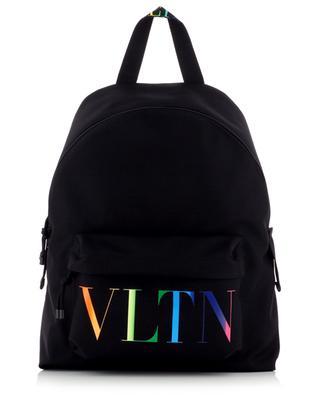 Bedruckter Rucksack aus Nylon VLTN Times Rainbow VALENTINO