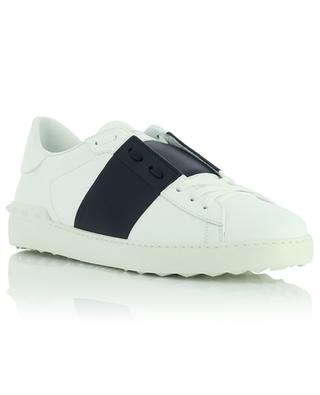Open low-top calfskin lace-up leather sneakers VALENTINO