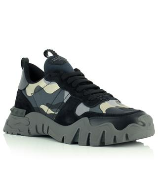 Camouflage Rockrunner Plus multi material low-top lace-up sneakers VALENTINO