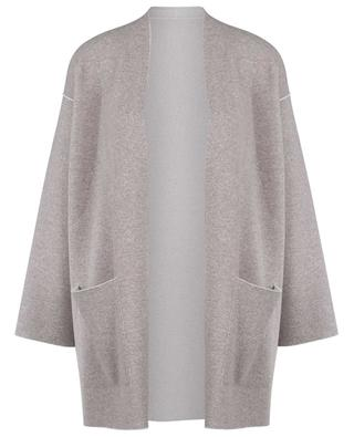 Soft open cashmere knit coat LUNARIA CASHMERE
