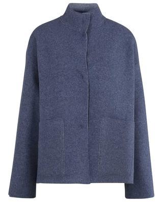 Reversible loose jacket in cashmere felt LUNARIA CASHMERE
