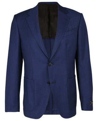 Easy Light textured wool and silk blend suit jacket ERMENEGILDO ZEGNA