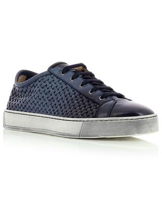 Sneakers aus gewebtem Leder SANTONI