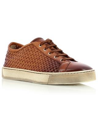 Woven leather sneakers SANTONI