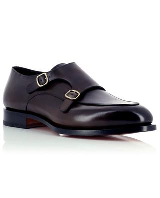 Monkstrap shoes in polished leather SANTONI