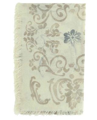 Écharpe fine imprimée fleurs Duse Carré 19 ANDREA'S 47
