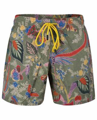 Exotic florals and animals print swim shorts ETRO