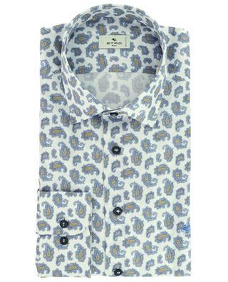 Chemise à manches longues en voile de coton imprimé Paisley ETRO