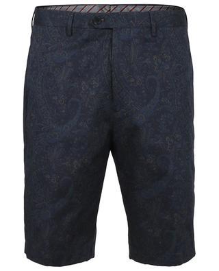 Multicolour paisley print comfort fit Bermuda shorts ETRO