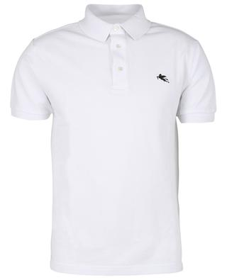 Pegaso embroidered cotton piqué slim fit polo shirt ETRO