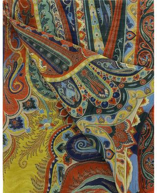 Delhy paisley printed lightweight linen and silk scarf ETRO