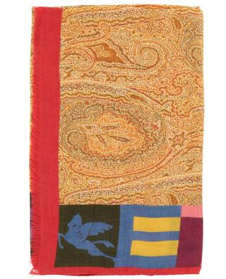 Delhy paisley and logo printed lightweight scarf ETRO