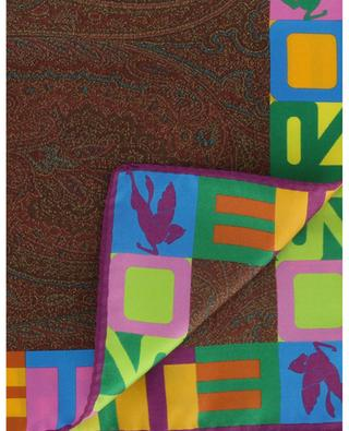 Pochette imprimée Paisley et logo Bangalore ETRO
