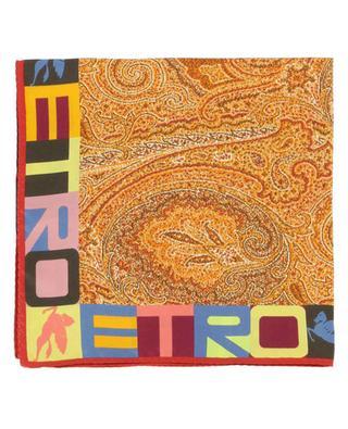 Einstecktuch mit Paisley- und Logoprint Bangalore ETRO