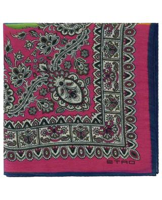 Bangalore linen and silk paisley pocket square ETRO