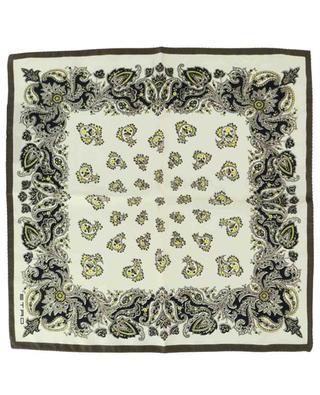 Bangalore paisley printed silk pocket square ETRO