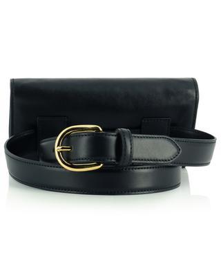Black leather beltbag N.D.V PROJECT