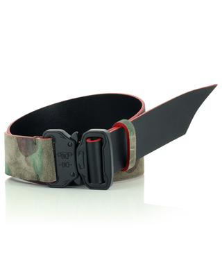 Suede leather belt military effect N.D.V PROJECT