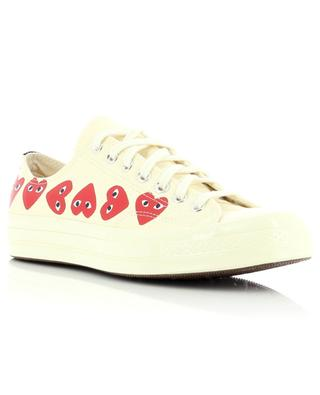 PLAY low lace-up canvas sneakers COMME DES GARCONS PLAY