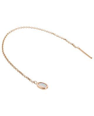 Mono-boucle d'oreille longue en or rose et opale GBYG